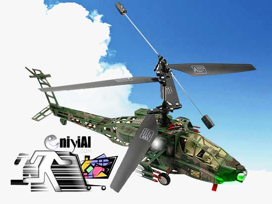 Apache 3 Kanallı Helikopter FULL SET