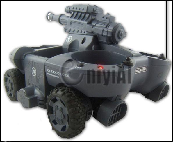 Suda-Karada Gidebilen 4x4 Boncuk Atabilen Lazerli Tank