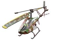 Askeri Kamuflajlı Helikopter